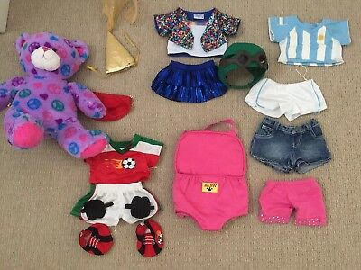 Used Build A Bear With A Collection Of Clothes And Accessorises