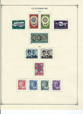 LUXEMBURG 1934-1973 Stamps Collection on Scott Album Pages