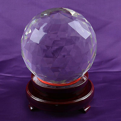 Clear Cut Crystal Sphere 120mm Faceted Gazing Ball Prisms Venue Decorations