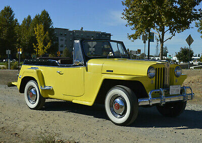 1949 Willys 439 VJ DeLUXE JEEPSTER JEEPSTER CONVERTIBLE STOCK 4CYL OD VINTAGE JEEP ROADSTER 1948 1950 1951 OVERLAND