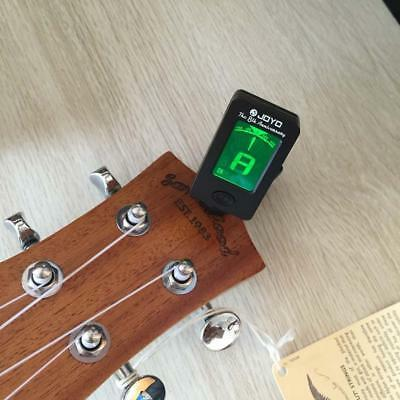 1P Clip-on LCD Digital Chromatic Electronic Guitar Tuner Bass Violin Ukulele GA