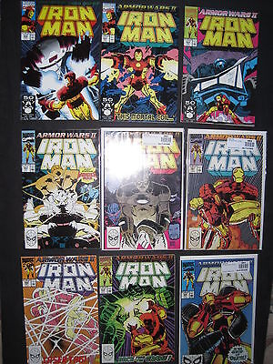 IRON MAN 258 - 266 : ARMOR WARS II : COMPLETE 9 issue 1990 STORY by BYRNE,ROMITA