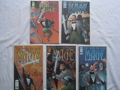 MAGE : The HERO DEFINED -COMPLETE RUN of #s 1,2,3,4,5 by MATT WAGNER. IMAGE.1997