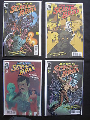 MAN WITH the SCREAMING BRAIN :COMPLETE 4 ISSUE SERIES by BRUCE CAMPBELL. DH.2005