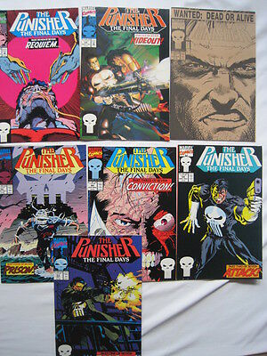 """PUNISHER : """"The FINAL DAYS"""" complete 7 issue story  #s 53,54,55,56,57,58,59.1993"""