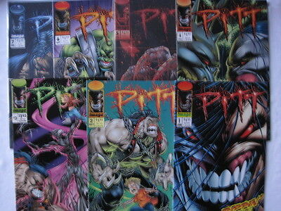 PITT -COMPLETE RUN OF 1,2,3,4,5,6 by DALE KEOWN. CLASSIC & VIOLENT ! IMAGE. 1993