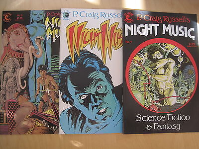 """P Craig Rusell's """"night Music"""" : Complete 3 Issue Series. Eclipse, 1984"""