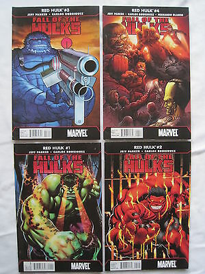 """RED HULK : """"FALL of the HULKS"""" COMPLETE 4 ISSUE SERIES by PARKER, RODRIGUEZ.2010"""