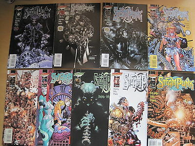 STEAMPUNK #s 1,2,3,4,5,6,7,8,9,10,11,12 COMPLETE SERIES by BACHALO & KELLY.2000
