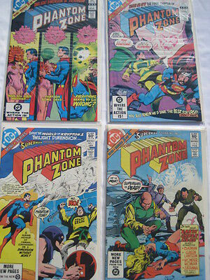 "SUPERMAN  ""PHANTOM ZONE""  4 part MINI SERIES COMPLETE. GENE COLAN. DC.1982"