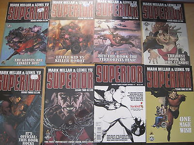 SUPERIOR : COMPLETE 7 ISSUE SERIES + KAPOW! VARIANT # 1 by MILLAR & YU.ICON.2011