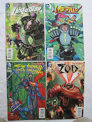 Superman Action Comics 23.1,23.2,23.3,23.4.complete Villains Story Arc.dc New 52