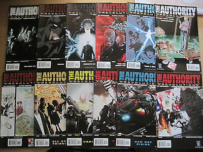 The AUTHORITY : REVOLUTION : COMPLETE 12 ISSUE SERIES by ED BRUBAKER. WS/DC.2005