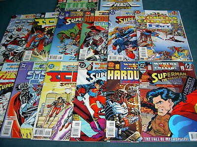 """Superman : """"Worlds Collide"""" : Complete 14 Issue Crossover Dc 1994 Story Arc"""