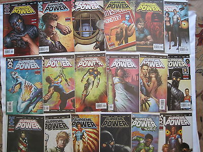 SUPREME POWER :COMPLETE 18 ISSUE 2003 Marvel Maxx SERIES by STRACZYNSKI.NB Adult