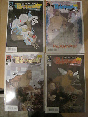 The PERHAPANAUTS, SECOND CHANCES : complete 4 issu series. 1 & 2 SIGNED. DH.2006