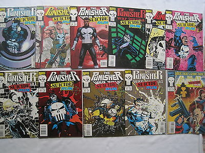 """The Punisher : """"suicide Run"""", Complete 11 Issue Crossover Story. Marvel.1993"""