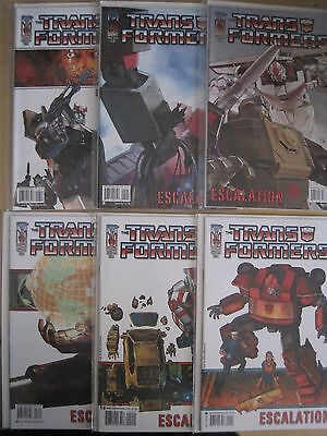 "Transformers : ""escalation "" : Complete 6 Issue Series. Idw. 2006"