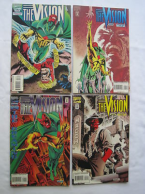 The VISION : The Dreaming , COMPLETE 4 ISSUE 1994 MARVEL SERIES. AVENGERS