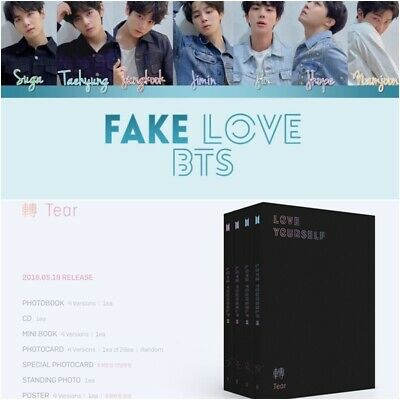 Love Yourself: Tear * by BTS (CD, Big Hit) K-POP *Select Version Poster