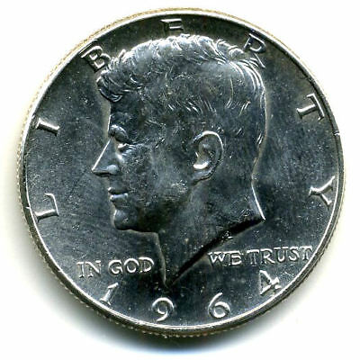 1964 P Choice Bu Kennedy Half Dollar 90% Silver Uncirculated 50 Cent Coin#4793