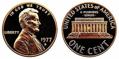 1977 S GEM BU PROOF Lincoln MemoriaL BRILLIANT UNCIRCULATED PENNY US COIN PF