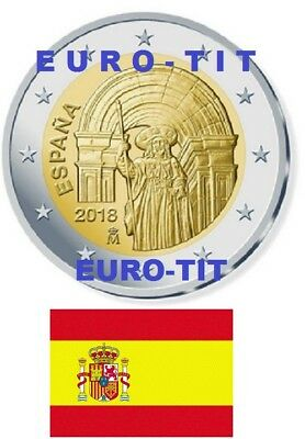 2 €  ESPAGNE COMMEMORATIVE  1 X PIECE ST JACQUES DE COMPOSTELLE  2018 disponible