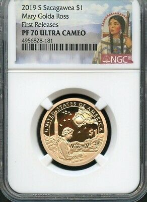 2019 S Sacagawea $1 Mary Golda Ross First Releases NGC PF70 Ultra Cameo Portrait