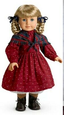 American GIrl Kirsten School Outfit Dress, Shawl, and Two Hair Ribbons