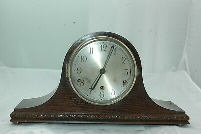 Antique / Vintage Coronet Westminster Chimes Mantle Clock With Key.