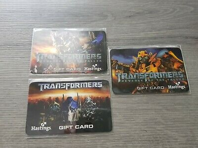 HASTINGS TRANSFORMERS MOVIE Collectible Gift Cards. WILL COMBINE SHIPPING