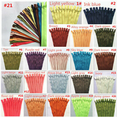 New color Nylon Coil Zippers Tailor Sewer Craft (12Inch)Crafter's &FGDQRS5-20Pcs