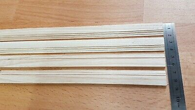 4 Lengths Of Quality Ash Wood Skirting Board 430mm by 15mm Dolls House Miniature