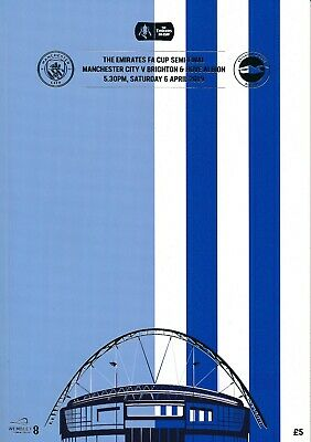FA CUP SEMI FINAL 2019 Manchester City v Brighton - Official match programme