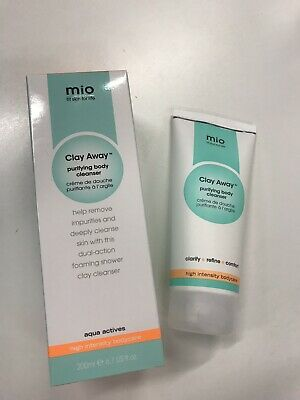 NEW Mio Skincare Clay Away Purifying Body Cleanser 200ml in box