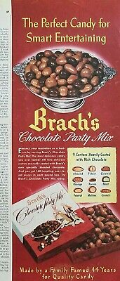 1948 Brachs chocolate party mix candy smart entertaining ad