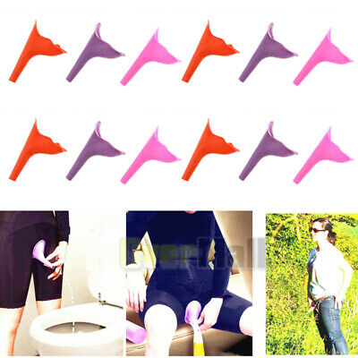 12Pcs Womens Female Portable Urinal Urine Funnel Camping Travel Emergency Toilet