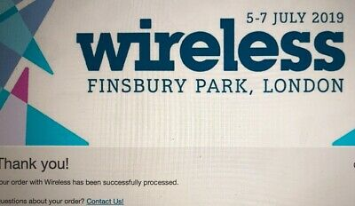 Wireless Festival 2019 Friday Ticket (Friday Tickets Sold Out!)