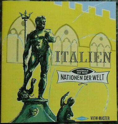 3 View-Master 3D Bildscheiben - Nations Of The World | Italien + Booklet