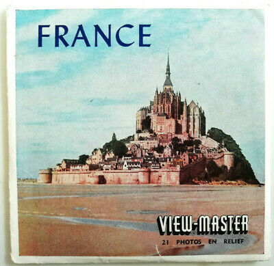 """3x VIEW MASTER SCHEIBE """" FRANCE / FRANKREICH """" + BOOKLET C230-F NATIONS World"""