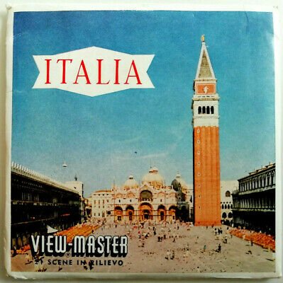 """3x VIEW MASTER SCHEIBE """" ITALIA / ITALIEN / ITALY """" + BOOKLET C080-I NATIONS"""