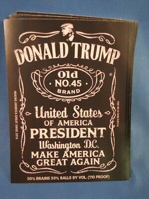 LOT OF 10 TRUMP FOR PRESIDENT 2020 STICKERS Make America Great Again Whiskey 45
