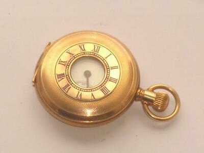 Superb Rare Antique Thomas Russell Half Hunter Pocket Watch Small Version Gold P