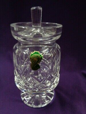 Waterford Crystal Lismore Footed Jam / Condiment Jar- MINT