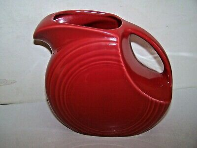 Fiesta® Large Disc Pitcher in Scarlet Red 67 Oz Made in USA Lead Free