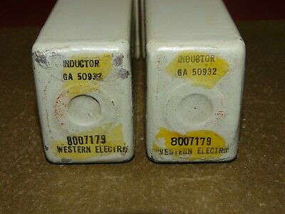 Pair, Western Electric Type GA 50932 Inductor Transformers, Good