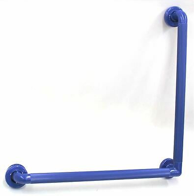 NYMAS PFAB-24/EB ABS Plastic Fluted Angled 90 Degree Grab Rail Electric Blue NEW