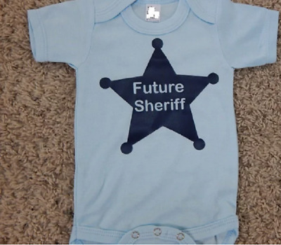 2ea4a7d07 Future sheriff one piece police badge baby bodysuit infant sheriff shower  gift