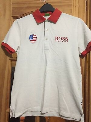 6f6ec79bc HUGO BOSS TSHIRT, Mens,retro,vintage,90's,small,white,USA,polo T ...