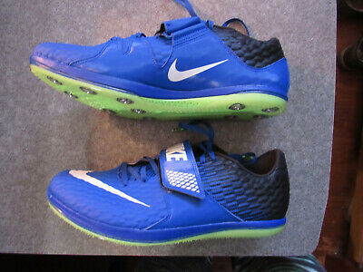 lowest price 37271 31c2f New Mens Nike Zoom HJ High Jump Elite Track Shoes Blue Volt 806561-413
